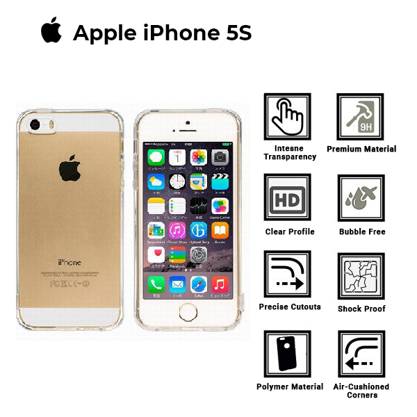 A BETTER MINIMALIST CASE for iPhone 5S, Ultra Thin [1.5mm] Slim Fit Flexible Soft TPU Case for iPhone 5S