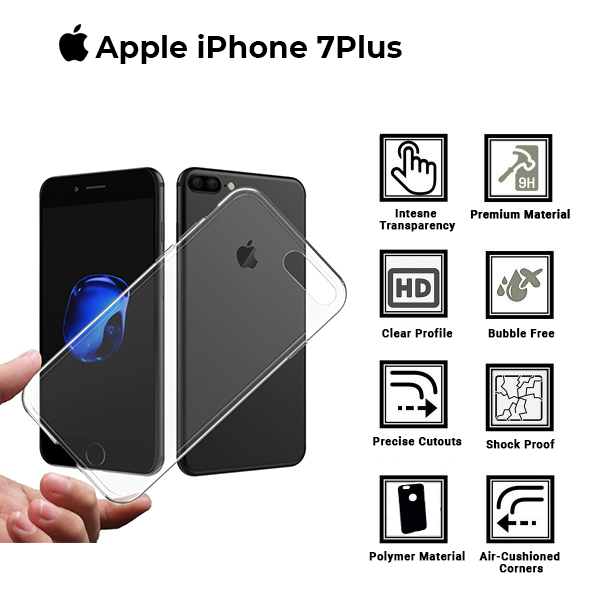A BETTER MINIMALIST CASE for iPhone 7 Plus, Ultra Thin [1.5mm] Slim Fit Flexible Soft TPU Case for iPhone 7 Plus