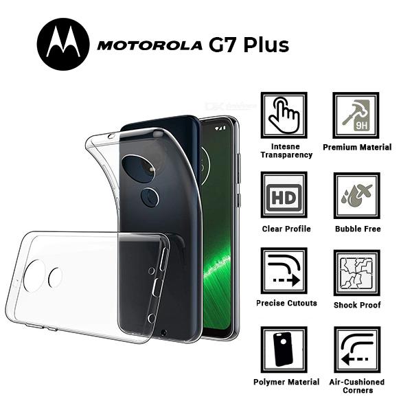 A BETTER MINIMALIST CASE for Motorolla G7 Plus, Ultra Thin [1.5mm] Slim Fit Flexible Soft TPU Case for Motorolla G7 Plus