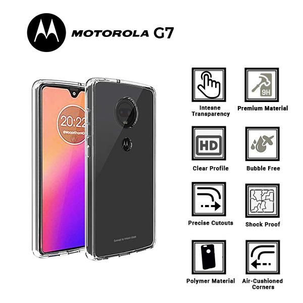 A BETTER MINIMALIST CASE for Motorolla G7, Ultra Thin [1.5mm] Slim Fit Flexible Soft TPU Case for Motorolla G7