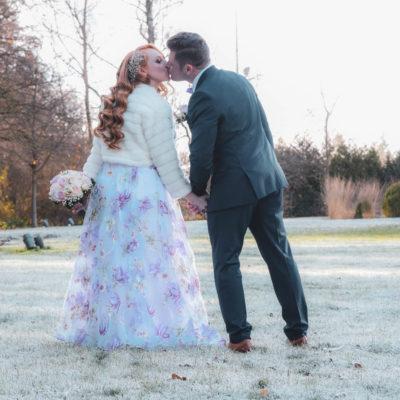 Brautpaar in Weinstadt. Winter fotoshooting
