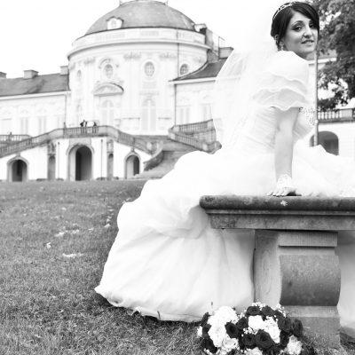 Brautpaar-Shooting in Schloss Solitude