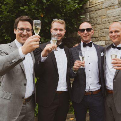 Sektempfang Kirchliche Hochzeit in Vahingen