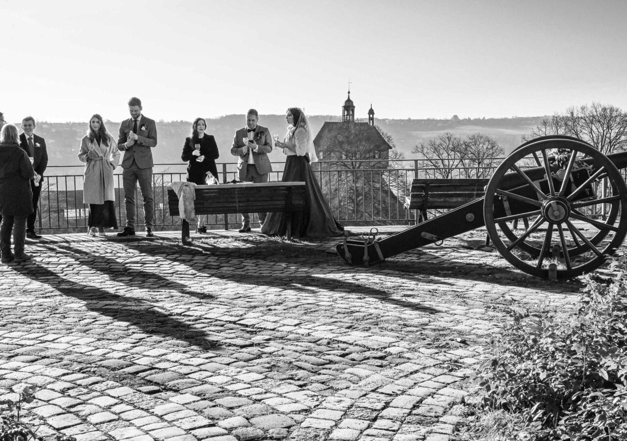 hochzeit in Esslingen Burg in Corona Zeit