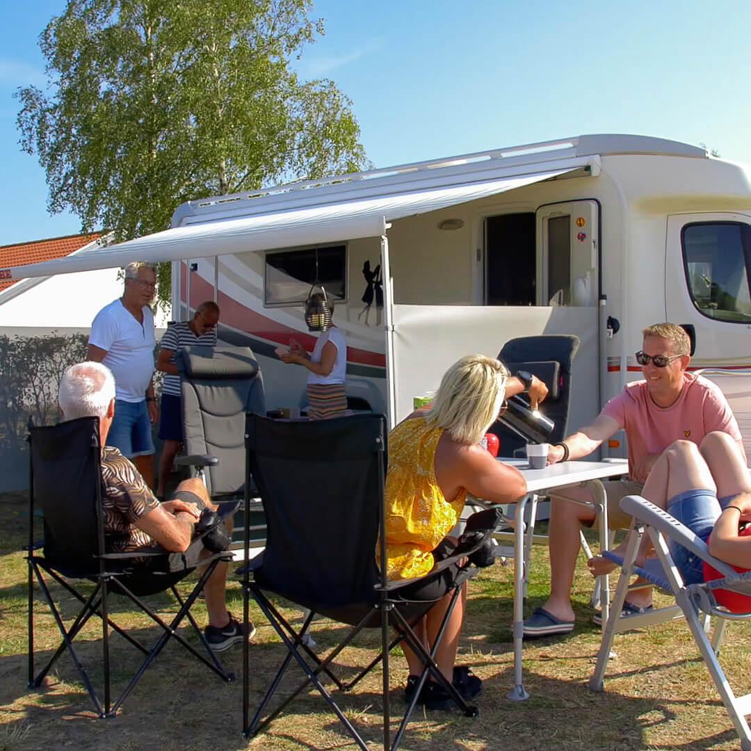 Husbil med vännerna i Halland