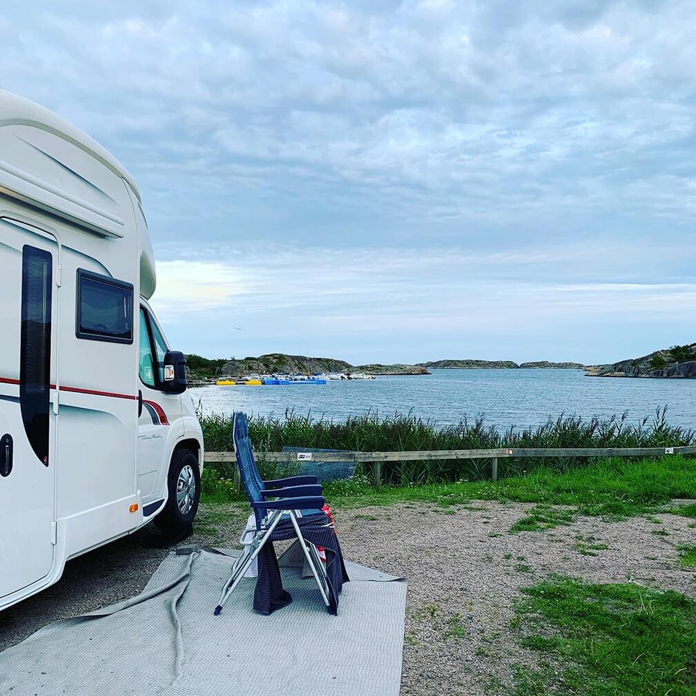 Ställplats med utsikt i Bohuslän