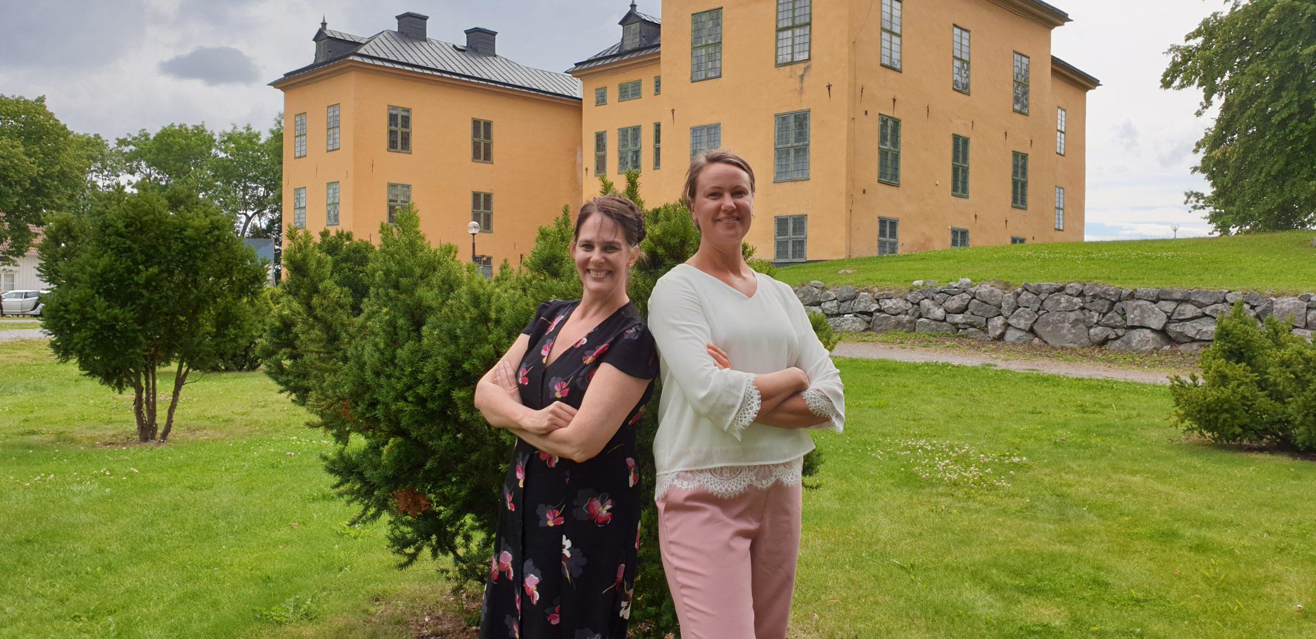 Canilla och Kristina på Wenngarns Slott