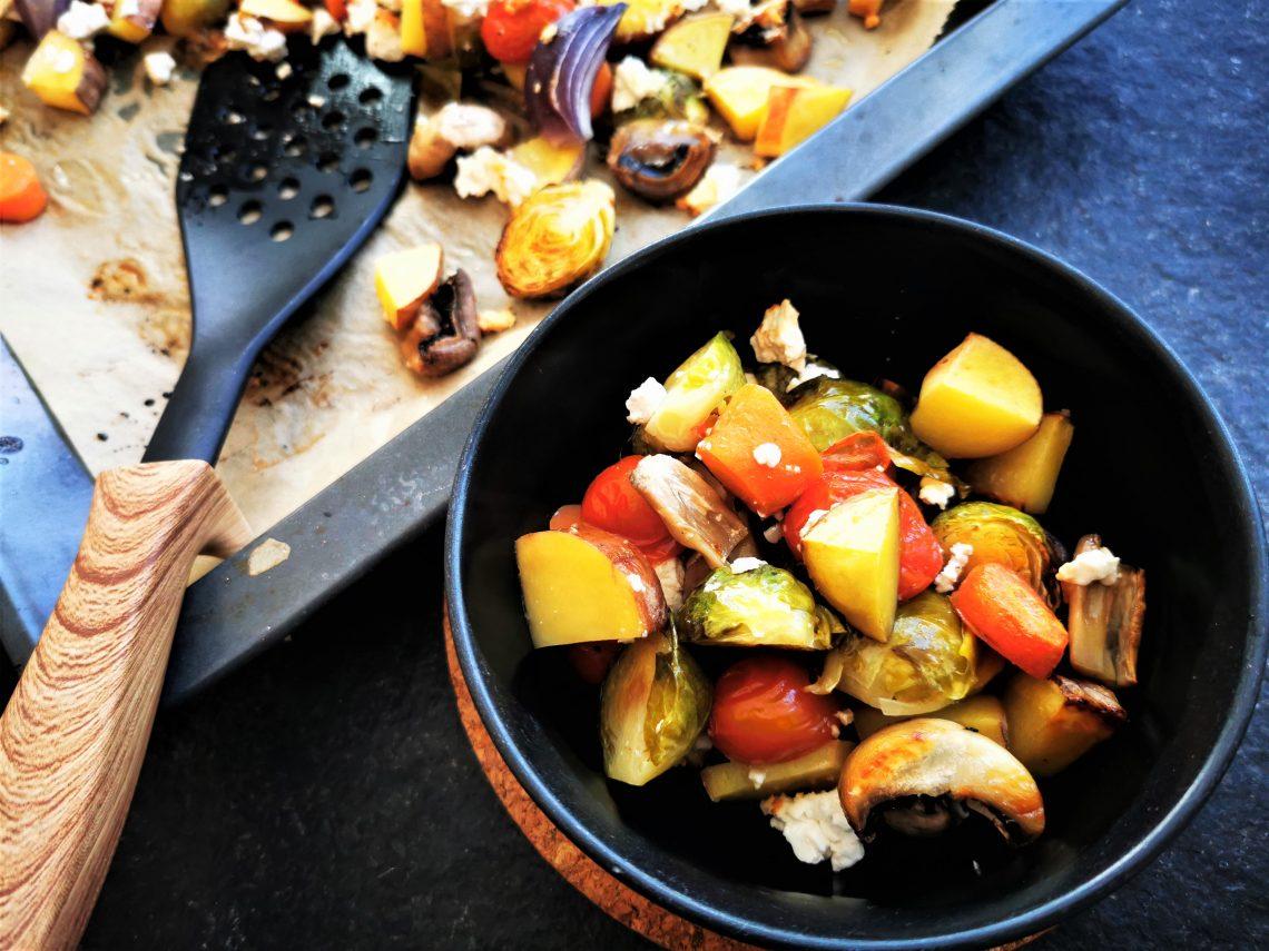 buntes Ofengemüse mit Feta kochen - vegetarisch, lecker, ein einfaches Rezept. Cappotella Kochblog