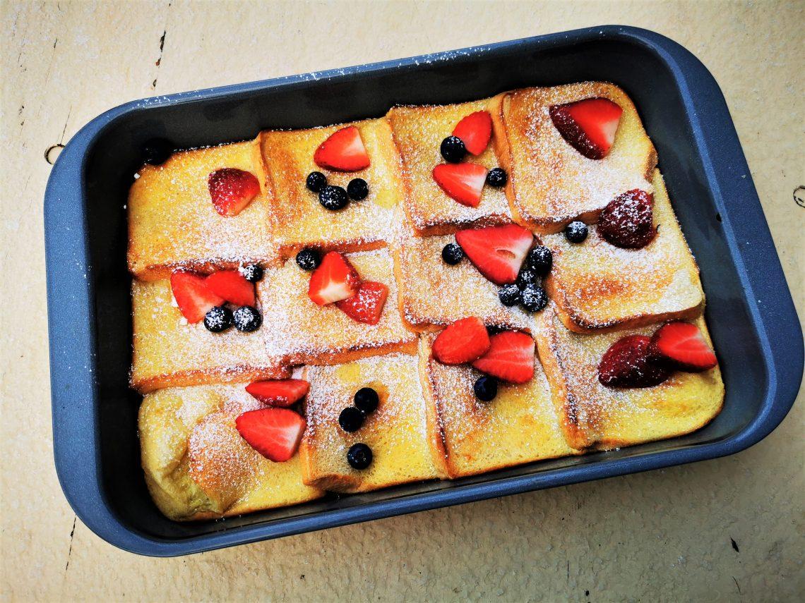 Rezept für leckeren Frenchtoast aus dem Ofen. So einfach, so gut!