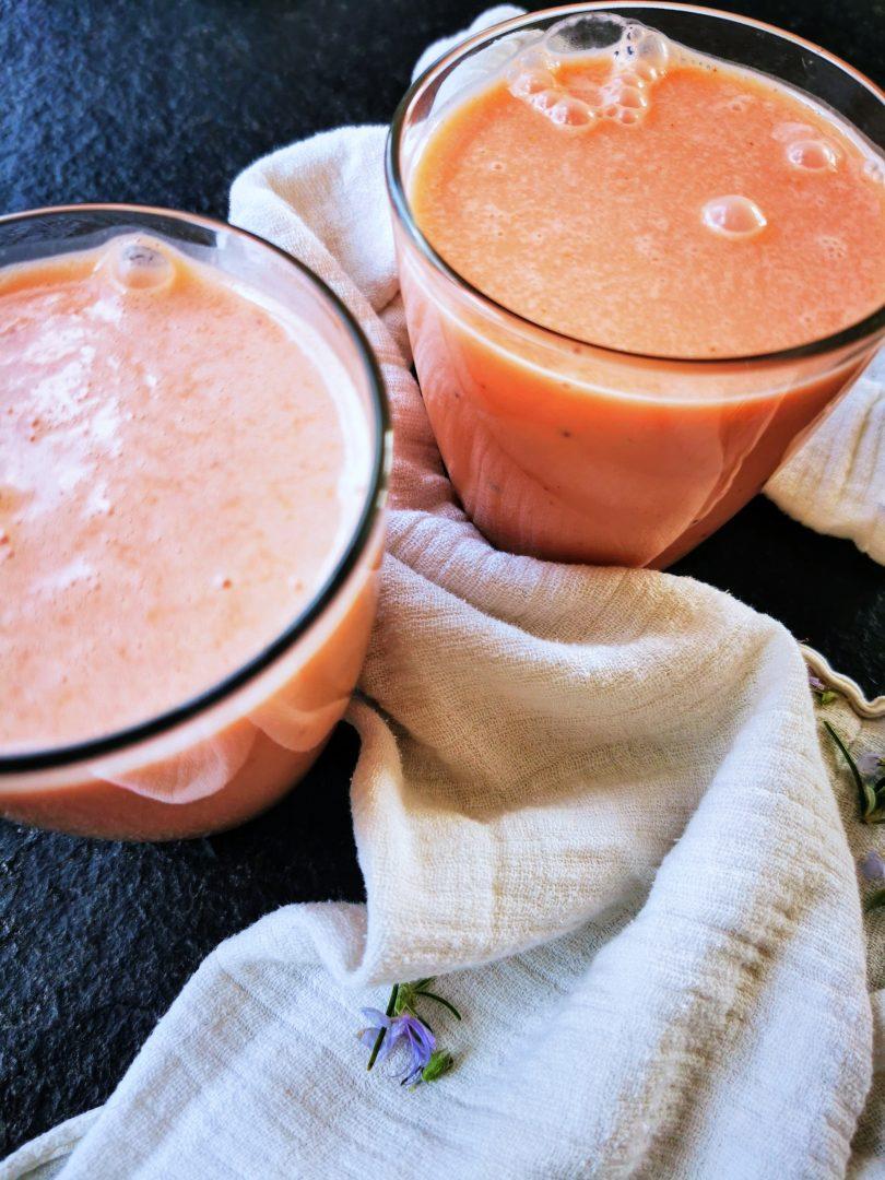 Frühstücksidee: Melonen-Lassi. Einfach, schnell und lecker!