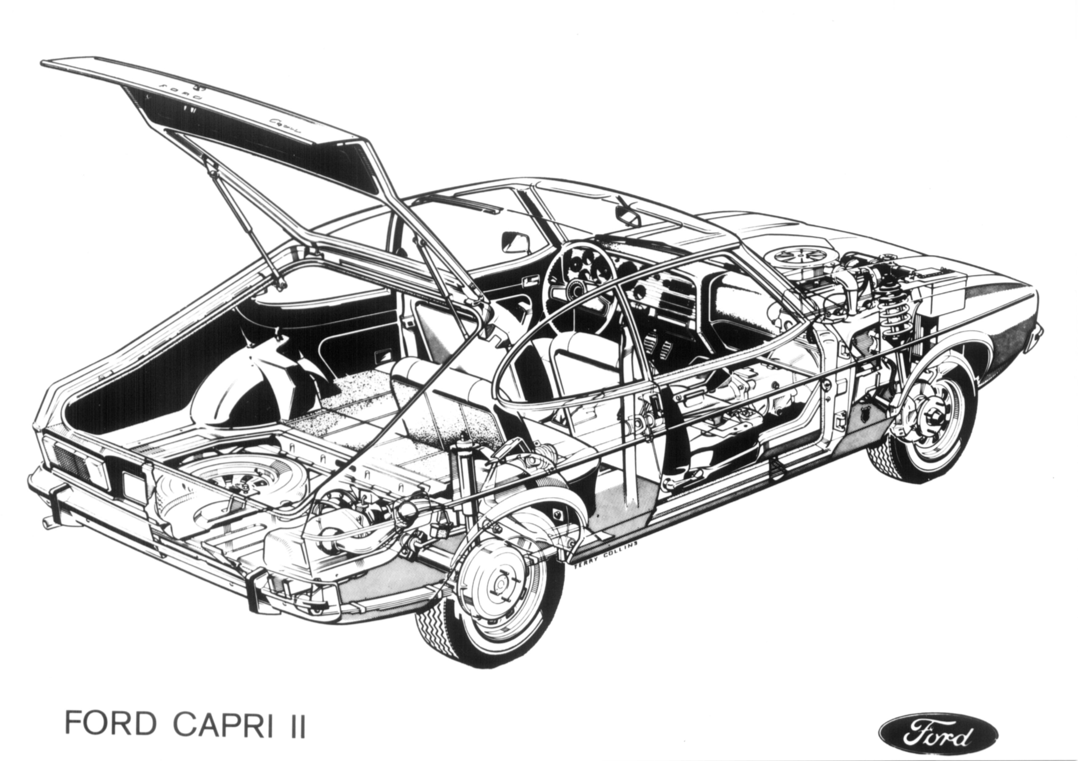 Postkort-FORD-CAPRI-II-cutaway-2