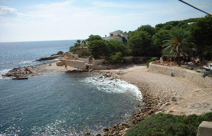 L'Andragó beach in Moraira