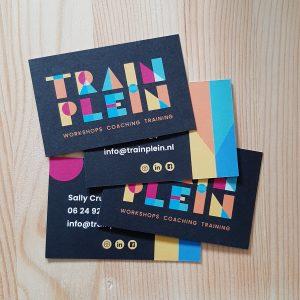 visitekaartjes voor Trainplein