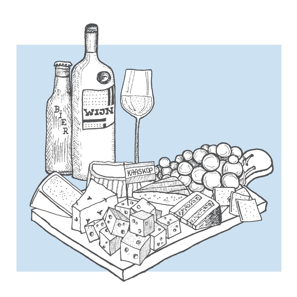 Kaaskop Kaasplank illustratie
