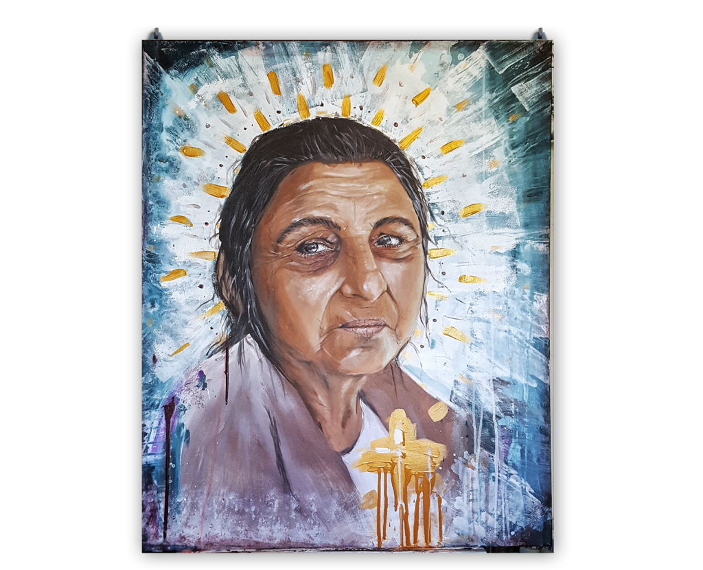 Porträtt målning av Caroline Strand