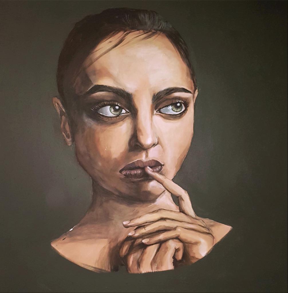 Porträttmålning av Caroline Strand