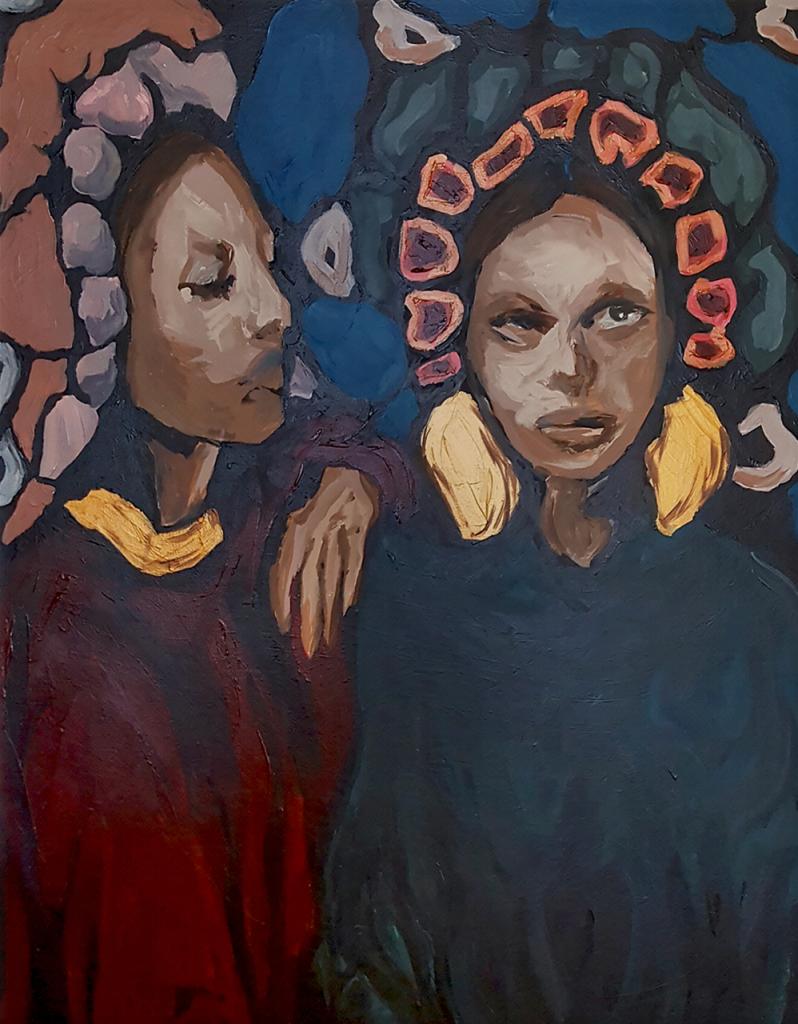Målning av Caroline Strand