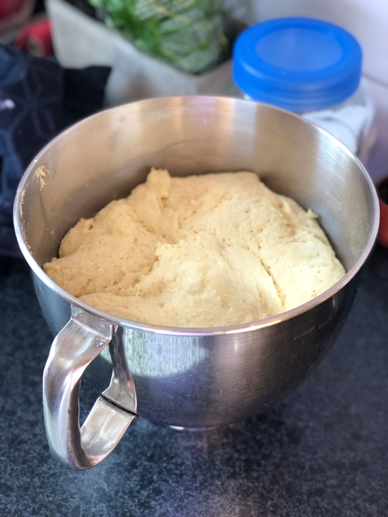 Vegan semla - making dough