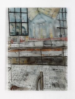 Carralero_Bieryznska_Not-Found_2021_Oil-on-reverse-of-glass_69x50cm