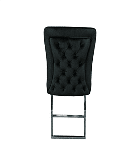 Dining room chair Allizee black with silver legs