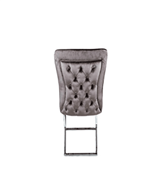 Dining room chair Dina brown with silver legs 1