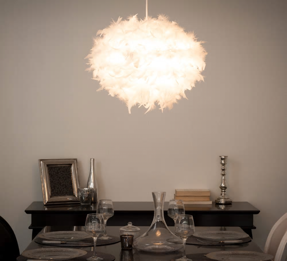 FEATHER hanging lamp decor