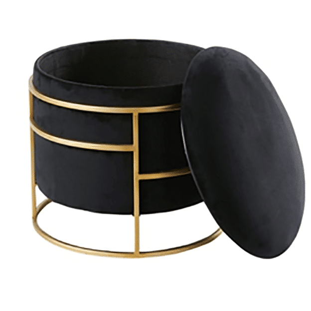 Pouf with lid