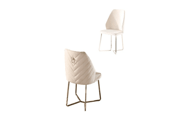 Beige chair with metal gold legs