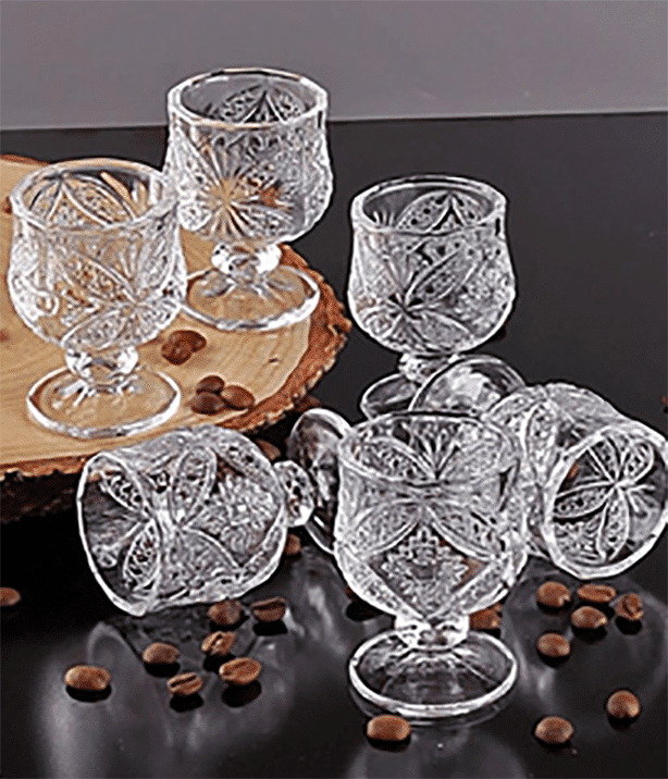 Crystal 6 pieces Tea glasses