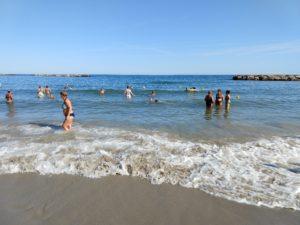 Stranden ved Arma di Taggia