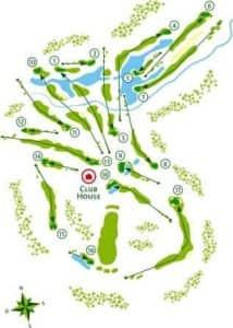 Golf holidays - Course map Quinta do Vale golfcourse