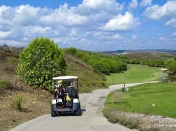 Buggy on East Algarve Golf course Castro Marim
