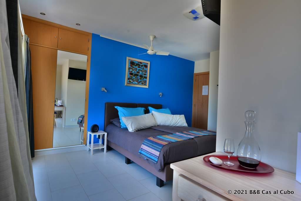 Kamer Azulejos bij bed en breakfast Cas al Cubo Tavira