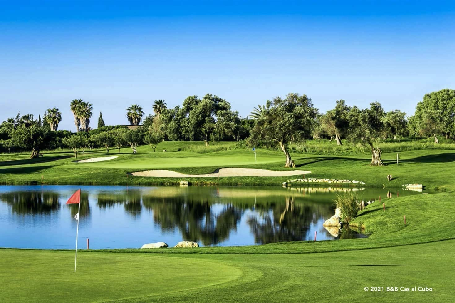Quinta de Cima water element - golfbanen in de Algarve