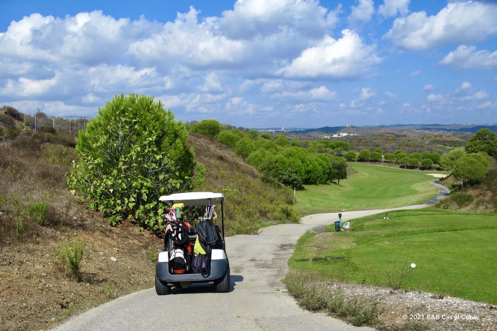 Golfbanen in de Algarve - Castrom Marim golf course - Buggy
