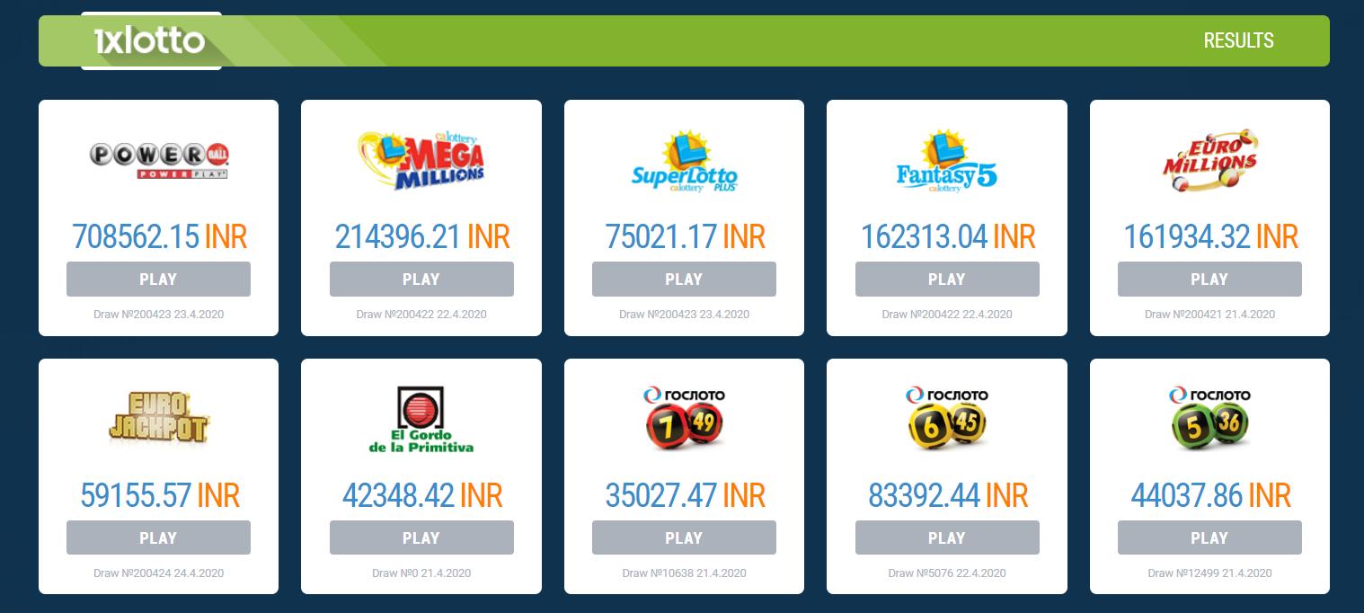 1xBet Lotto