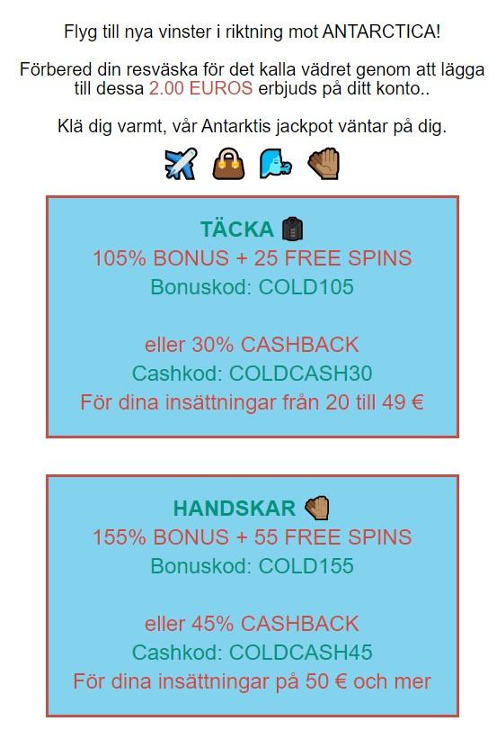 många bonusar i casinon utan svensk licens