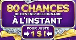 Zodiac Casino 80 tours gratuits pour 1 C$