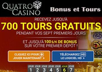 Quatro Casino et bonus