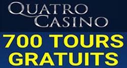 Quatro Casino et ses 700 tours gratuits