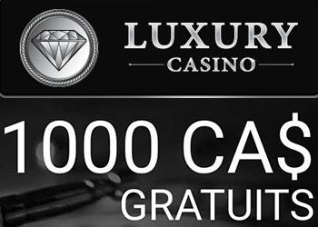 Luxury Casino et bonus gratuit