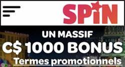 Spin Casino bonus gratuit