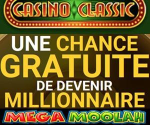 Casino Classic bonus sans dépôt