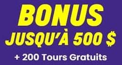 200 tours bonus de Wildz