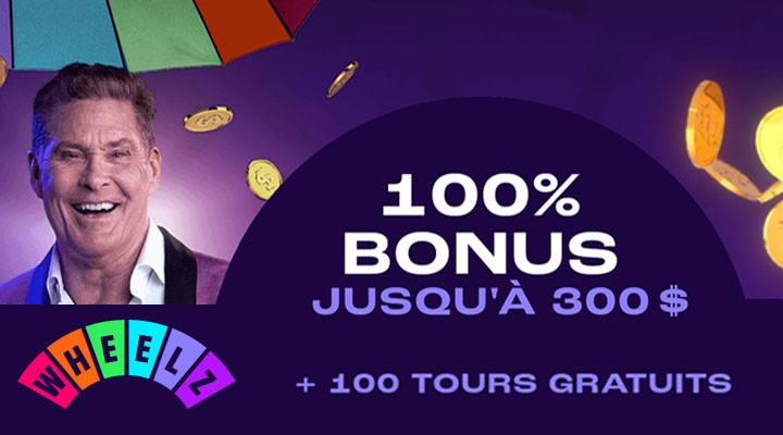 Wheelz Casino et jackpots bonus à gagner