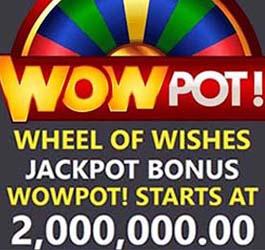 WowPot Wheel of Wishes de +2 millions
