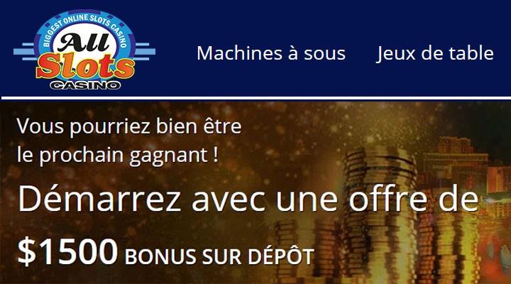 All Slots casino en ligne au Québec