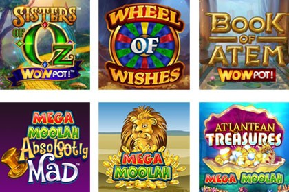 Jeux à jackpot Mega Moolah et WowPot