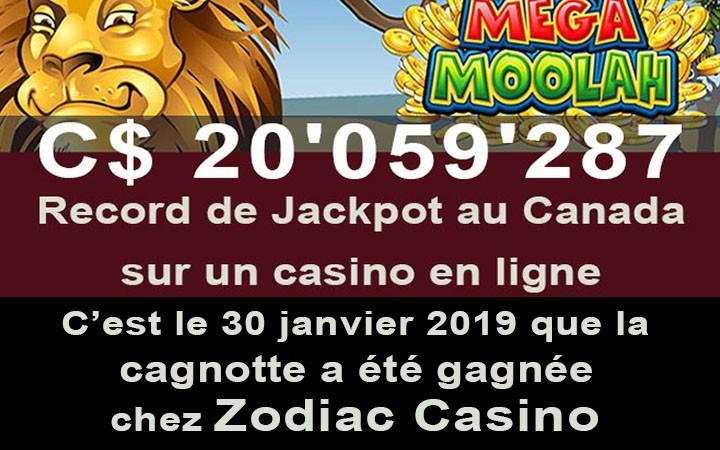 Plus grand gain jackpot du Canada sur un casino en ligne