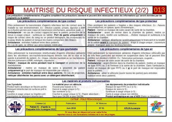 Maîtrise des risques infection 2/2